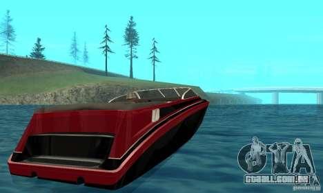 GTAIV TBOGT Floater para GTA San Andreas traseira esquerda vista