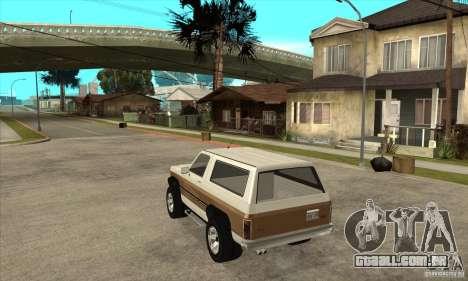 Ford Ranger para GTA San Andreas traseira esquerda vista