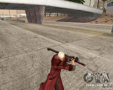 Nero sword from Devil May Cry 4 para GTA San Andreas terceira tela