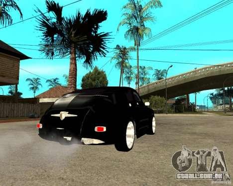 GAZ-M20 (ganhar) + tuning para GTA San Andreas traseira esquerda vista