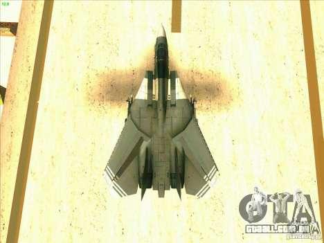 F-14 Tomcat Schnee para o motor de GTA San Andreas