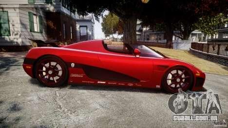 Koenigsegg CCXR Edition para GTA 4 esquerda vista
