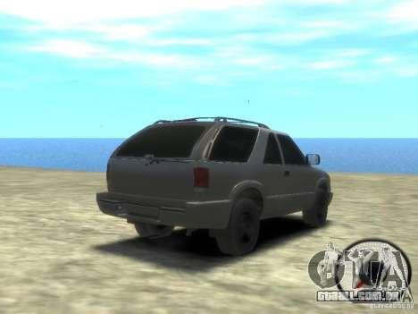Chevrolet Blazer LS 2dr 4x4 para GTA 4 vista direita