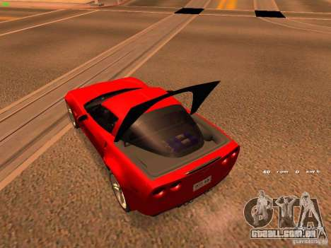 Chevrolet Corvette Z06 para vista lateral GTA San Andreas
