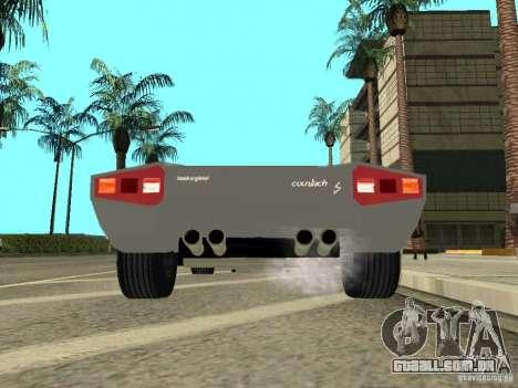 Lamborghini Countach LP400 para GTA San Andreas vista traseira