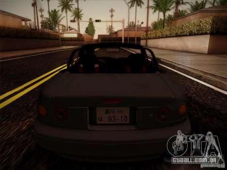 Mazda MX5 JDM para GTA San Andreas vista traseira