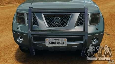 Nissan Frontier DUB v2.0 para GTA 4 vista inferior