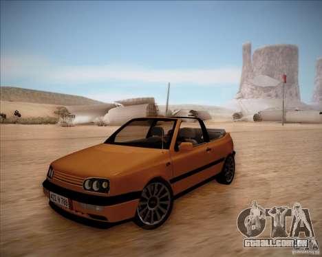 Volkswagen Golf MkIII Cabrio Custom 1995 para GTA San Andreas
