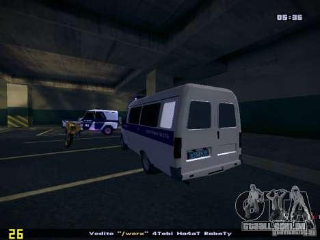 Polícia de gazela 2705 para GTA San Andreas esquerda vista
