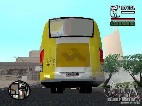 Busscar Vissta Bus para GTA San Andreas traseira esquerda vista