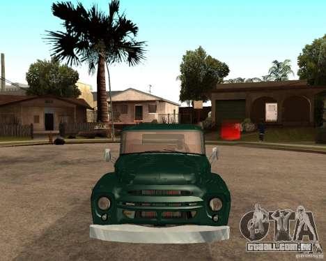 ZIL 130 ardente Tempe v 1.0 para GTA San Andreas traseira esquerda vista