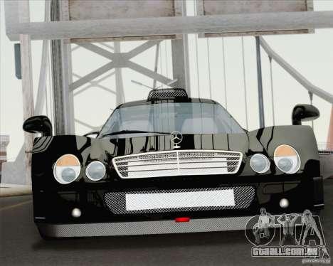 Mercedes-Benz CLK GTR Race Road Version Stock para GTA San Andreas vista interior