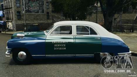 Packard Eight Police 1948 para GTA 4 esquerda vista