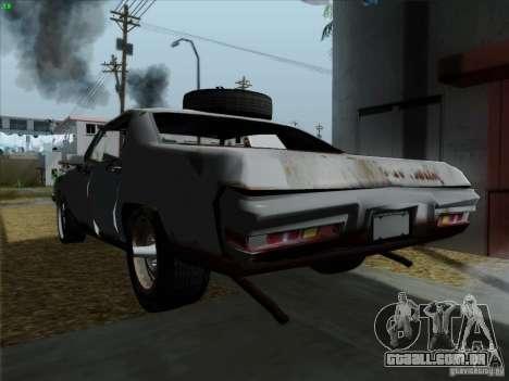 BETOASS car para GTA San Andreas traseira esquerda vista