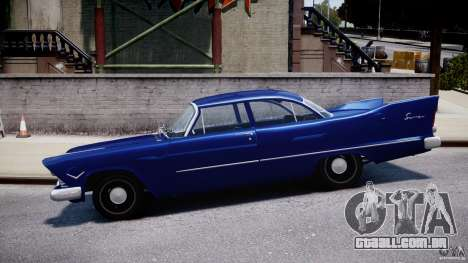 Plymouth Savoy Club Sedan 1957 para GTA 4 esquerda vista