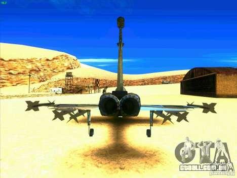 F-5E Tiger para GTA San Andreas traseira esquerda vista