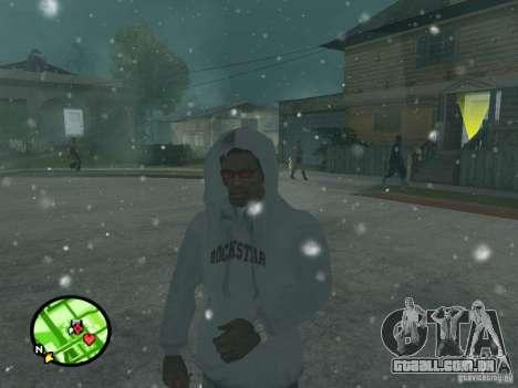 Queda de neve para GTA San Andreas por diante tela