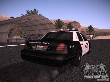 Ford Crown Victoria Police 2003 para GTA San Andreas vista direita