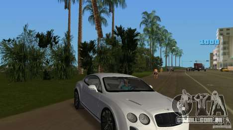 Bentley Continental Supersport para GTA Vice City vista traseira