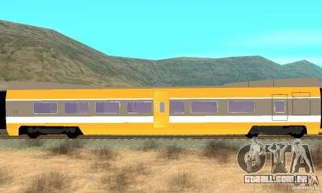 TGV SOUTH WEST para GTA San Andreas vista direita