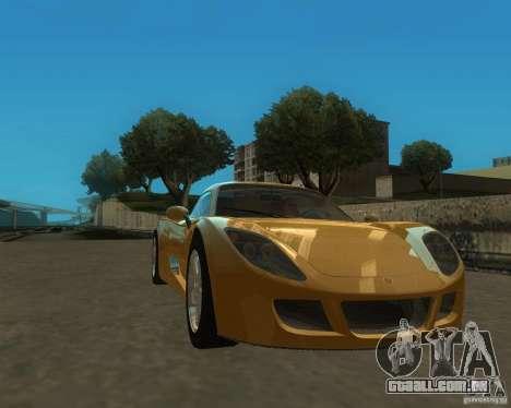 Ginetta F400 para GTA San Andreas traseira esquerda vista