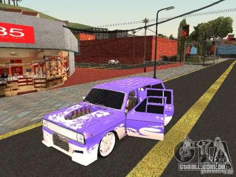Lowrider GAZ 24-12 para GTA San Andreas esquerda vista