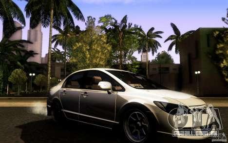 Honda Civic FD BlueKun para GTA San Andreas vista direita