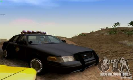 Ford Crown Victoria Kentucky Police para GTA San Andreas vista traseira