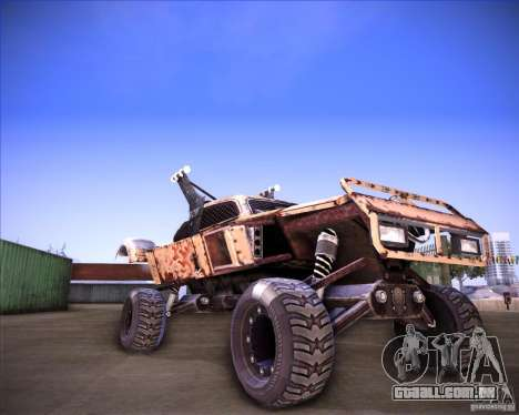 Post Apocalyptic Mayhem sandking para GTA San Andreas traseira esquerda vista