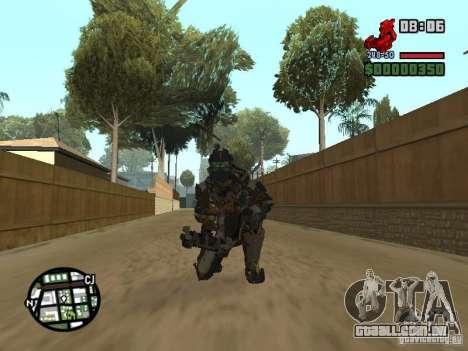 O traje dos jogos Dead Space 2 para GTA San Andreas sexta tela