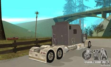 Peterbilt 379 Custom Legacy para GTA San Andreas vista direita