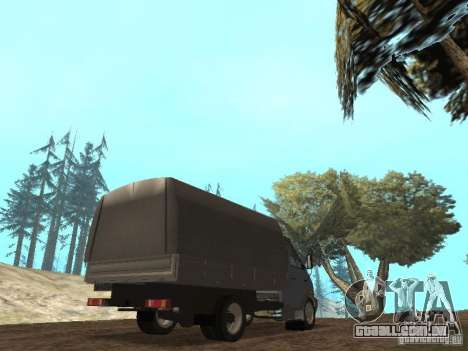 GÁS-3310 Valdai para GTA San Andreas vista direita