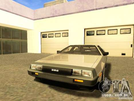 DeLorean DMC-12 V8 para GTA San Andreas vista superior