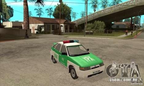 Polícia YPX VAZ-2112 para GTA San Andreas vista traseira