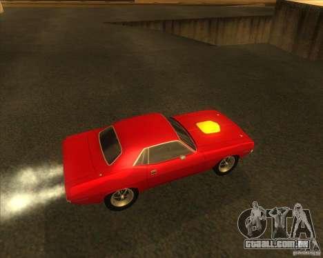 Plymouth Hemi Cuda para GTA San Andreas vista direita