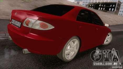Mazda 6 2006 para GTA San Andreas vista interior