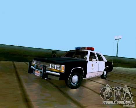 Ford Crown Victoria LTD LAPD 1991 para GTA San Andreas