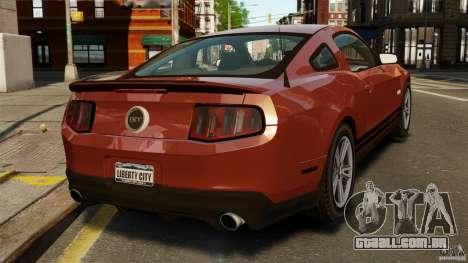 Ford Mustang GT 2011 para GTA 4 traseira esquerda vista