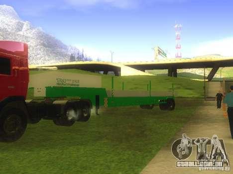 TCM trailer-993910 para GTA San Andreas esquerda vista