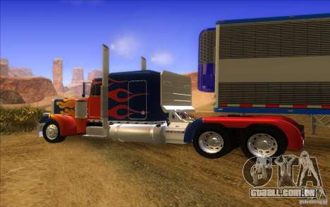 Truck Optimus Prime v2.0 para GTA San Andreas vista traseira
