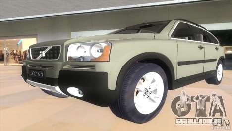 Volvo XC90 para GTA Vice City vista traseira