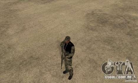 Roupa de camuflagem para GTA San Andreas segunda tela