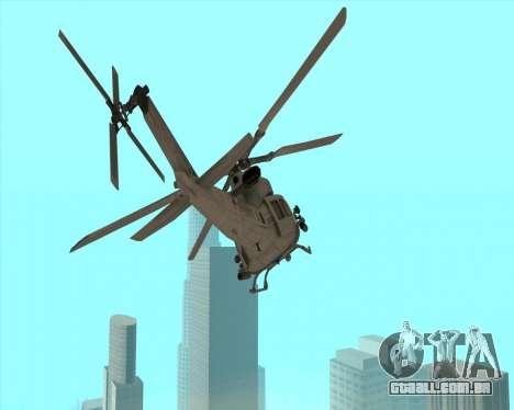 UH-1 Iroquois para GTA San Andreas esquerda vista