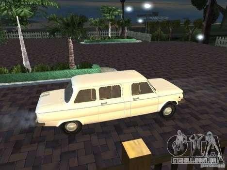 ZAZ 968M Limousine para GTA San Andreas vista interior