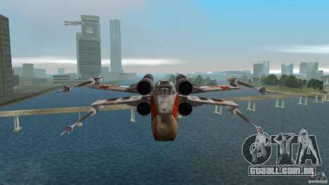 X-Wing Skimmer para GTA Vice City vista interior