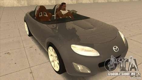 Mazda MX5 Miata Superlight 2009 V1.0 para GTA San Andreas vista traseira