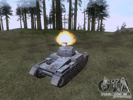 PzKpfw II Ausf.A para GTA San Andreas vista direita