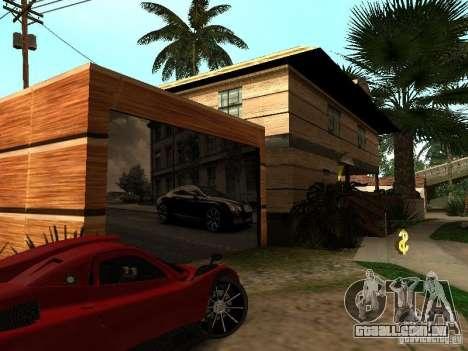 CJ em casa nova para GTA San Andreas por diante tela