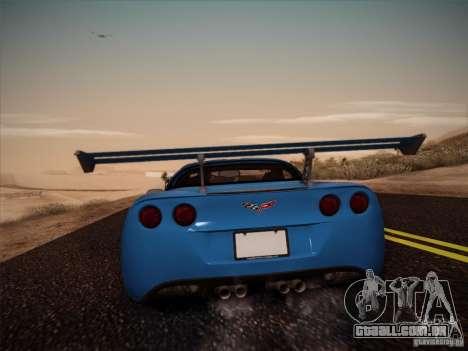 Chevrolet Corvette C6 para GTA San Andreas esquerda vista