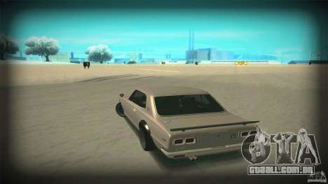 Nissan Skyline 2000GT-R JDM Style para GTA San Andreas vista superior